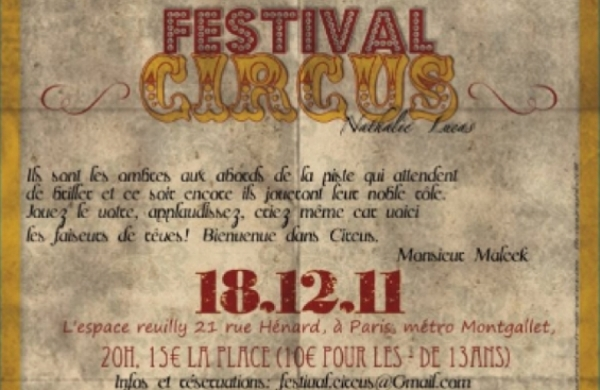 FESTIVAL CIRCUS 1ÈRE ÉDITION BY LADY CAPRICE