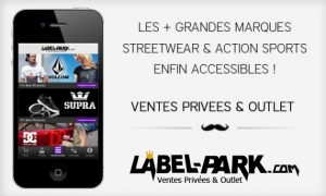 LABEL-PARK.COM LANCE SON APPLICATION POUR IPHONE/IPAD